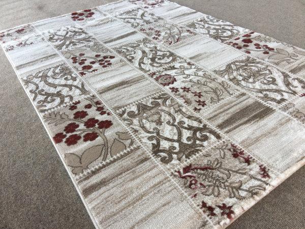 релефен килим ривиера 5546 крем-пудра